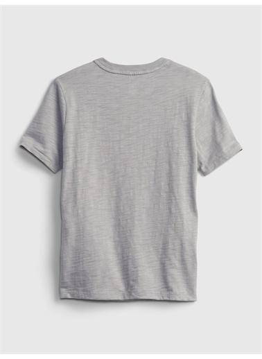 Gap Grafik Desenli T-Shirt Gri